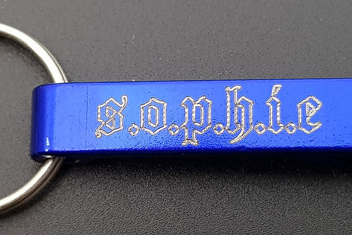 S.O.P.H.I.E. Keyring Bottle Opener Blue