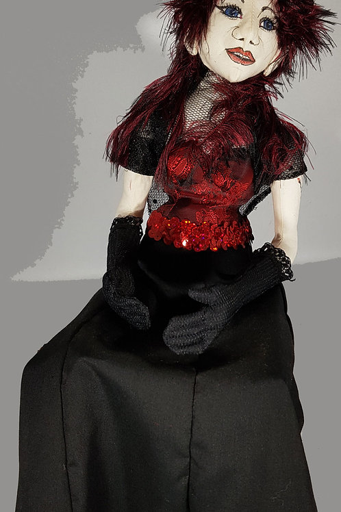 Elf Doll Red Sequin Bodice