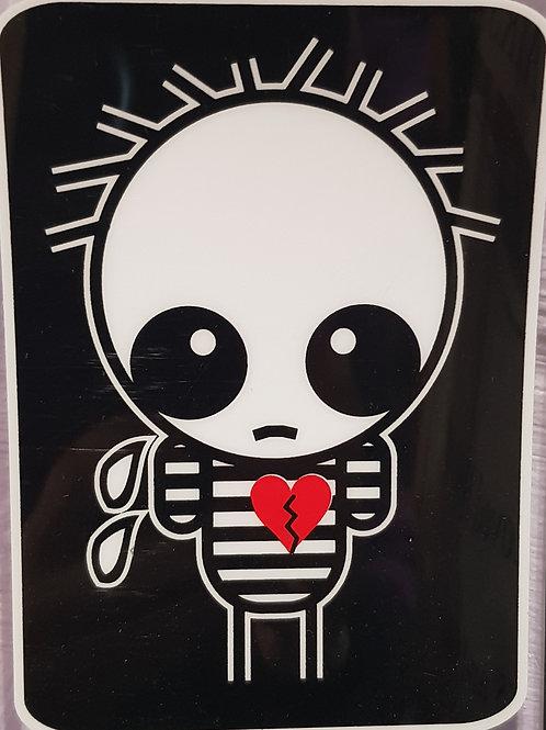 GCP53 Emo Heart Window Sticker