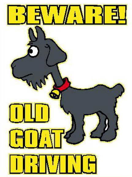 MA23 Beware! Old Goat Driving Window Sticker