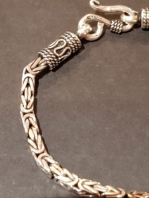 Square Twist Bracelet 925 Silver