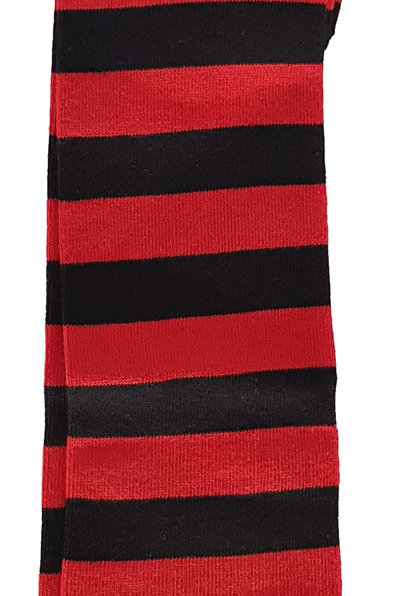 Over The Knee Socks Black And Red