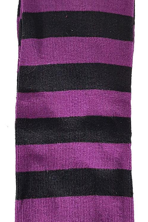 Knee High Socks Black And Purple