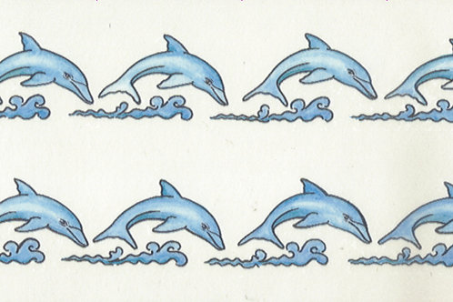 2 Row Dolphins Armband Tattoo