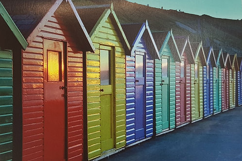 Whitby Beach Huts Card