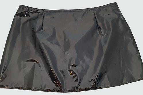 PVC Hipster Mini Skirt Black