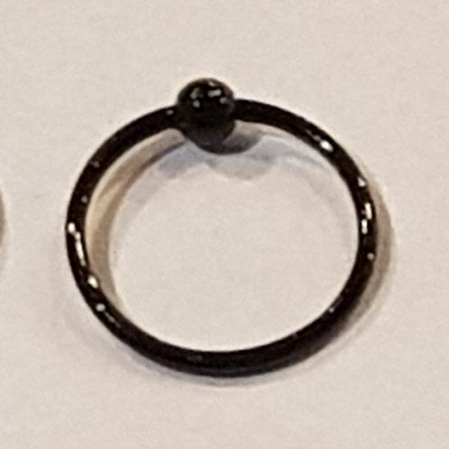 Nose Ring Black (ball) 10mm