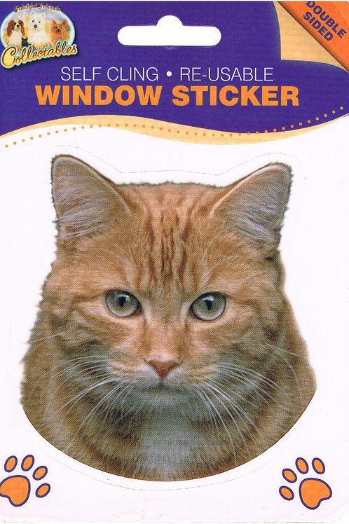 Ginger Cat Window Sticker