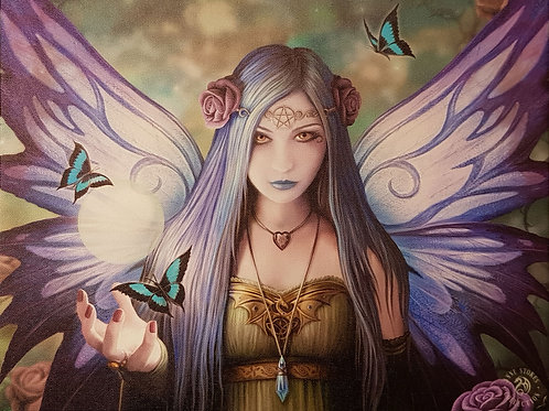 Anne Stokes Wall Plaque Mystic Aura