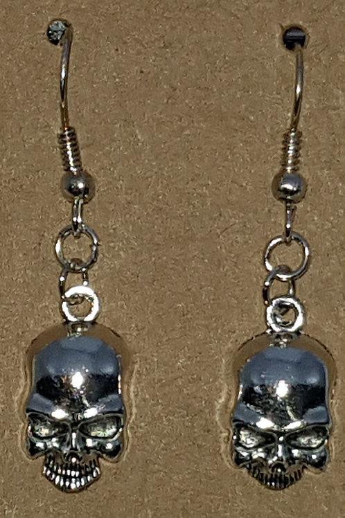 Skull Drop Earrings