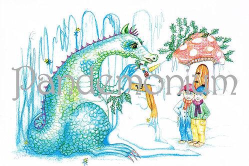 Capricorn Zodiac Dragon Card