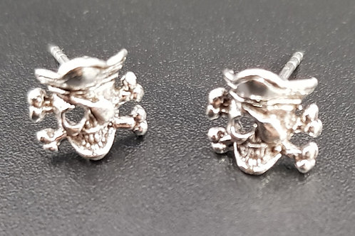 Pirate Skull X-Bone Studs