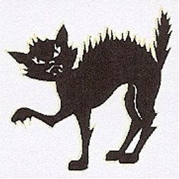 GCP31 Black Cat Window Sticker