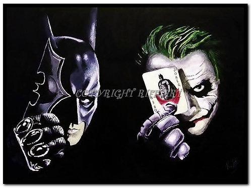 Batman and Joker Canvas