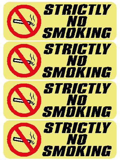 USR31 Stricly No Smoking Window Sticker