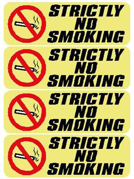 USR31 Stricly No Smoking Window Sticker