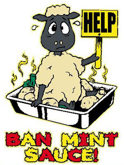 MA25 Help! Ban Mint Sauce Window Sticker