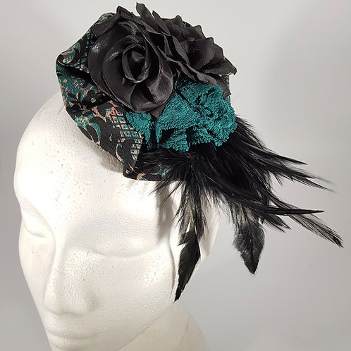 Regal Fascinator Black and Green