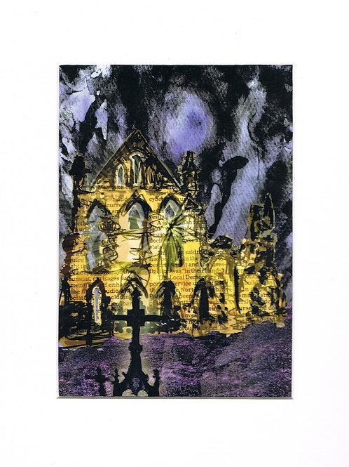Dark Whitby Abbey Print
