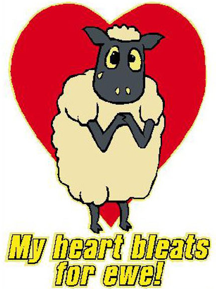 SH14 My Heart Bleats For You Window Sticker