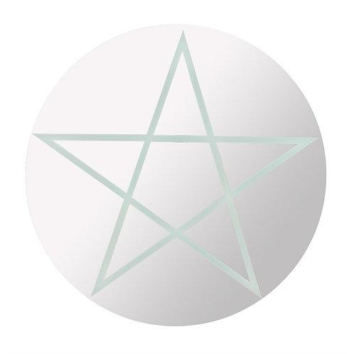 Pentagram Mirror Round