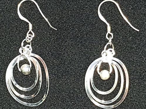 3 Loop Twist Drop Earrings