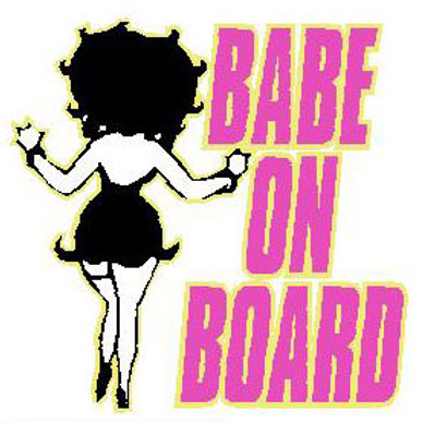 USR11 Babe On Board Window Sticker