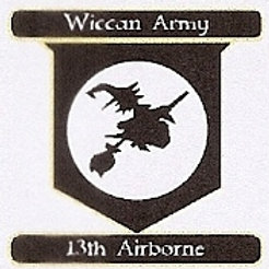 PWD36 Wiccan Army,13th Airborne Window Sticker