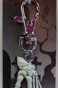 Skeleton Hand Metal Keyring
