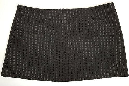 Pinstripe Mini Skirt Black