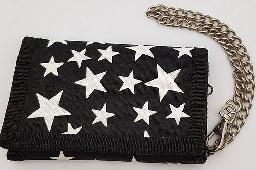 Wallet Black with White Stars