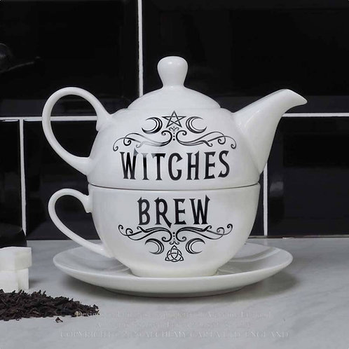 Tea For One Witches Brew Hex Tea Pot Set