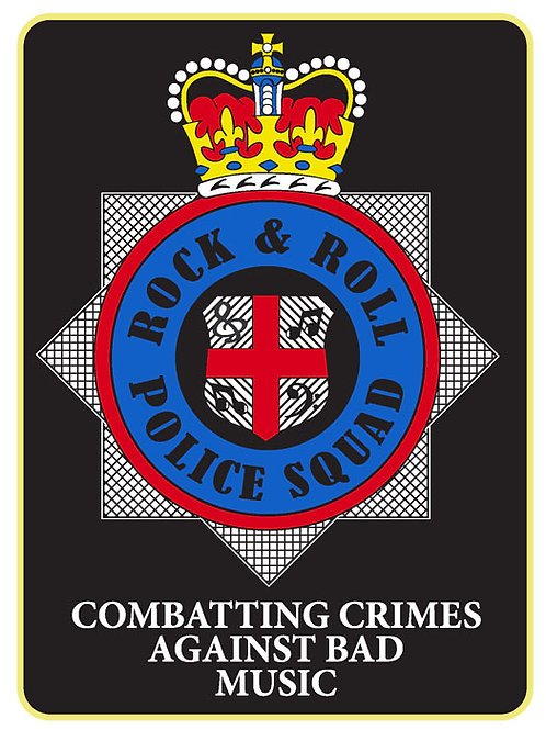 132 Rock & Roll Police Squad Window Sticker