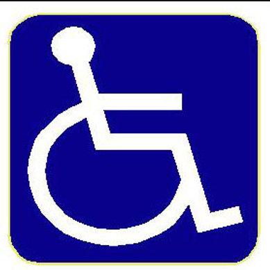 USR19 Disabled:Wheelchair Window Sticker
