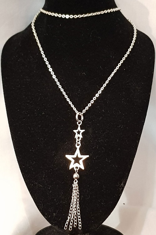 Star And Chains Necklace 925 Silver