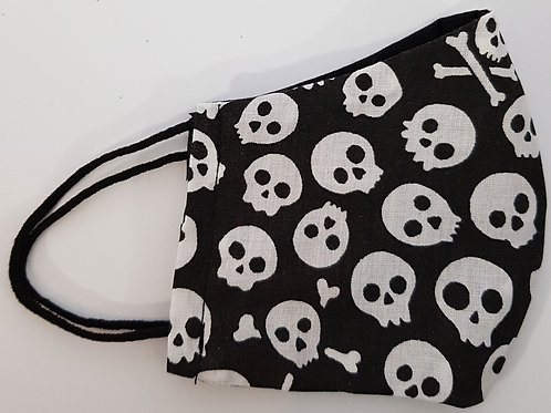Lined Facemask Various Small Skulls (Children's/Small Adult)
