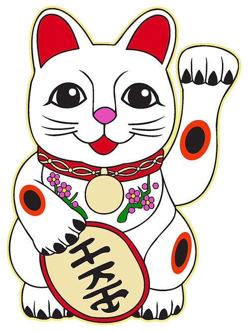 84 Lucky Cat Window Sticker