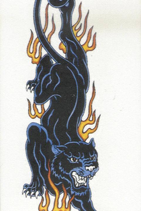 Panther Flame Armband Tattoo