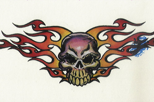Flame Skull Armband Tattoo