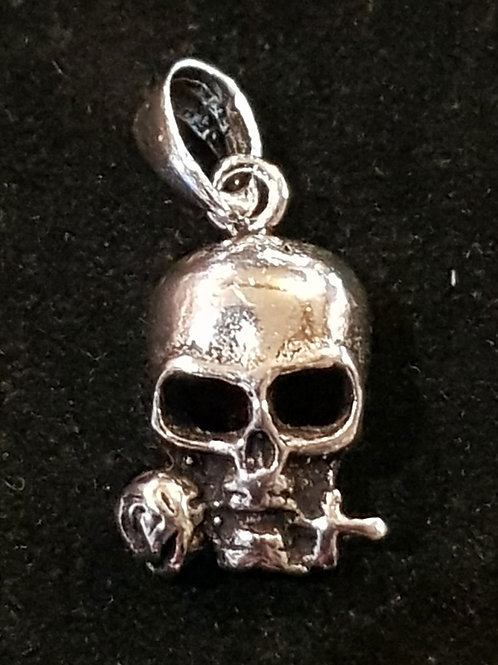Skull Rose Pendant