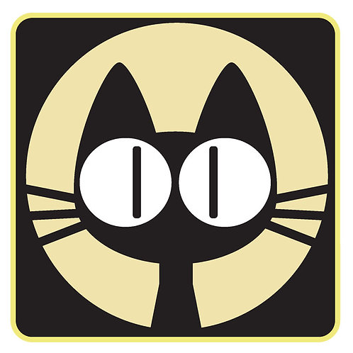 78 Kit Cat Window Sticker