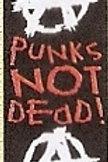 GCP04 Punks Not Dead Window Sticker
