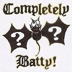 GCP36 Completely Batty Window Sticker