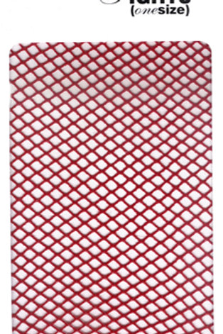 Fishnet Tights (Flo Red)