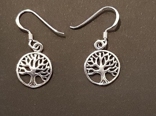 Tree Of Life Round Hook Earrings