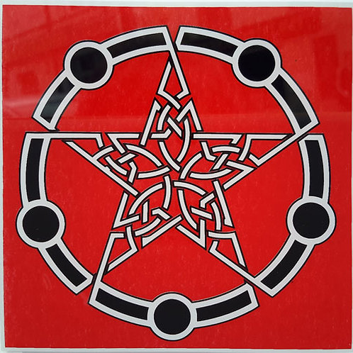 23 Celtic Pentagram Window Sticke