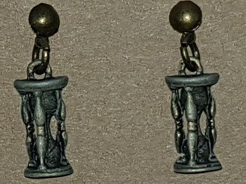 Hourglass Drop Earrings