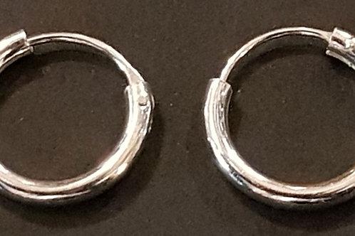 Silver Hoop Earrings 12mm