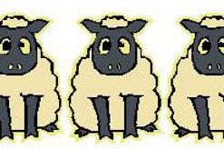 SH42 Black Sheep Window Sticker