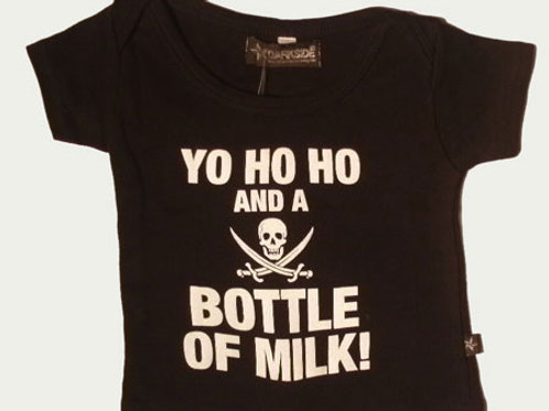 Yo Ho Ho And A Bottle Of Milk Baby Tee 6-12 mths